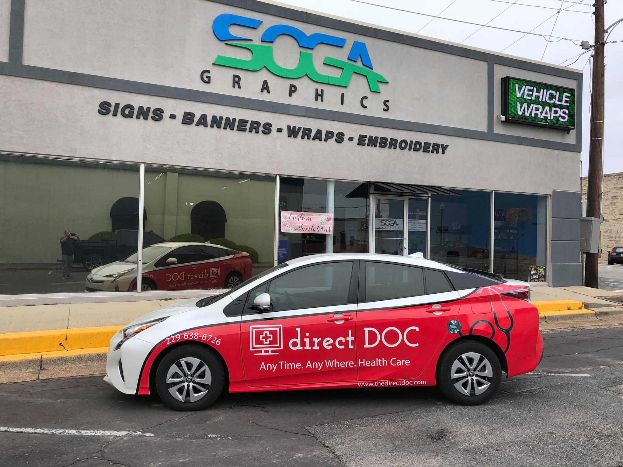 Direct Doc Vehicle Wrap